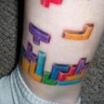 Leg Tetris Tattoo