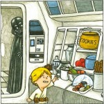 Luke practicing Force