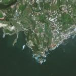 Satellite view of Naples, Italy