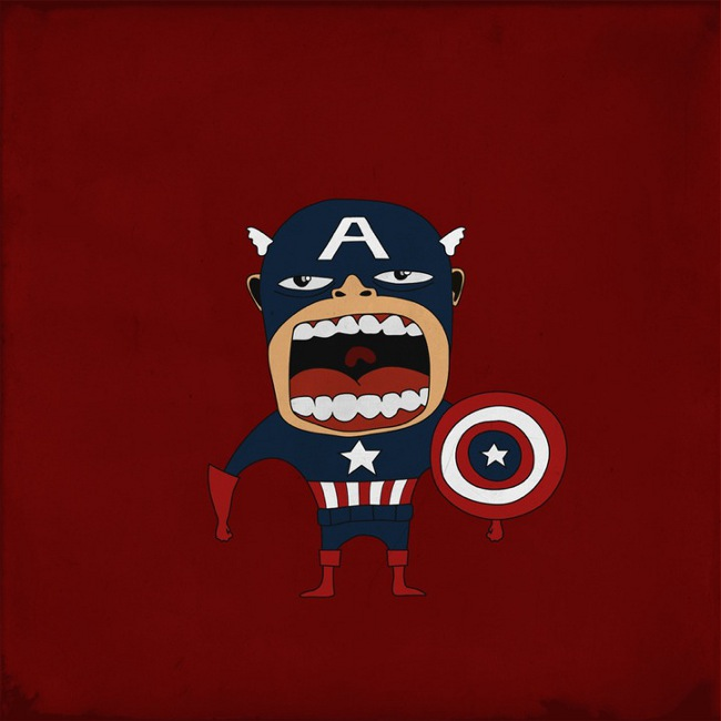 Screaming Captain America
