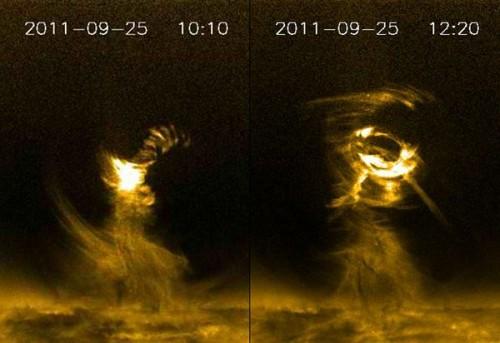 Solar Tornadoes NASA Image