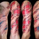 Spiderman Sleeve Tattoo