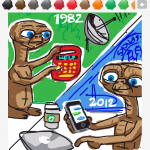 Texting draw something
