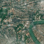 Satellite view of Vatican City