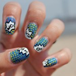 comics nail art