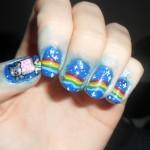 nyan cat nail art 2