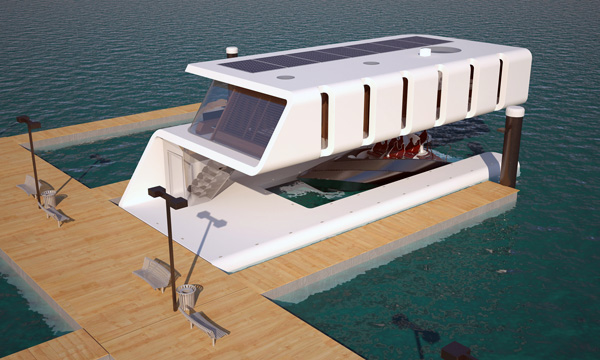 Intriguing New House Boat Design | Walyou on warehouse designs, boat architecture, beach designs, bank designs, boat lift designs, canoe designs, fishing designs, pier designs, boat dock, boat fashion, boat slip designs, boat flowers, island designs, rv designs, unique boat designs, barge designs, zoo designs, homemade houseboat designs, garage designs, road designs,