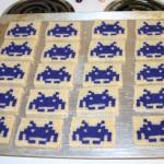 space invaders Pixel Cookies