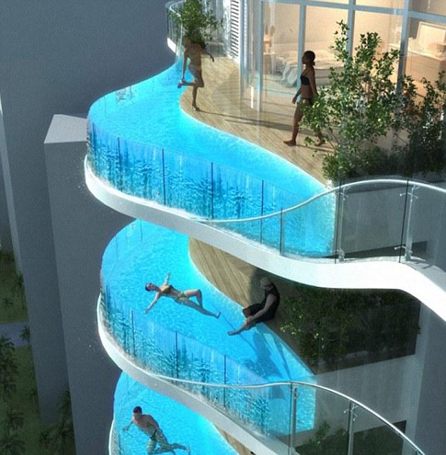 Swimming Pool balcony