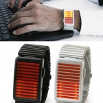 Kisai Denshoku Silver LED Watch