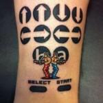Konami Code Contra Tattoo Image