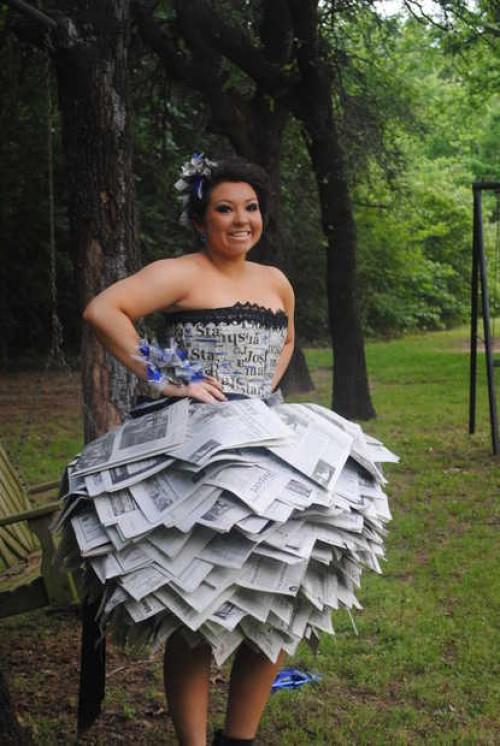 Newspaper Prom Dress | Walyou