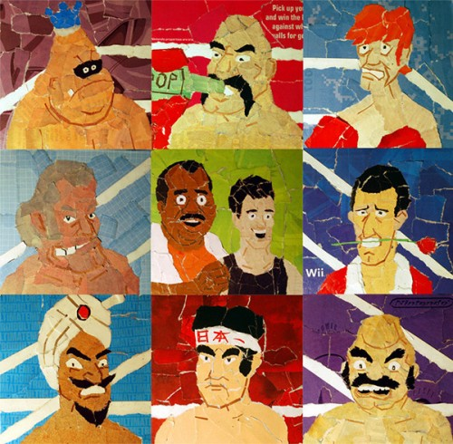Punch-Out! Collages By Artist Chris Lange Full Set Image