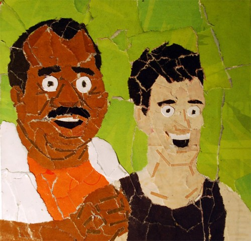 Punch-Out! Collages By Artist Chris Lange Mac and Trainer Image