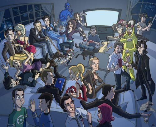 23 tv show characters in one room walyou