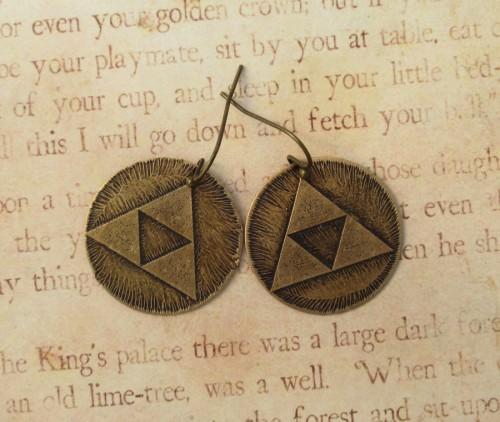 Triforce earrings by Fortesgospel Image