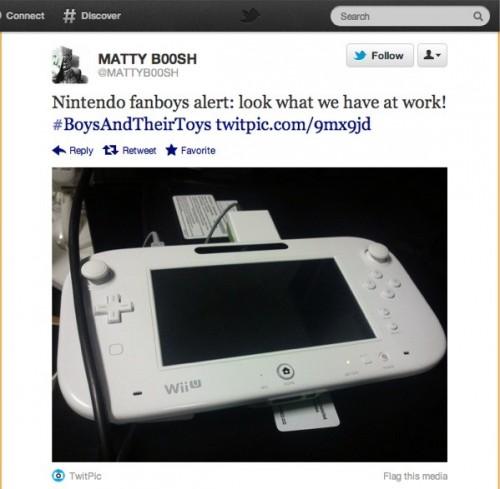 Wii U Tablet Tweet Screenshot