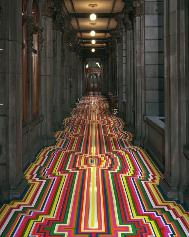 Floor tape art