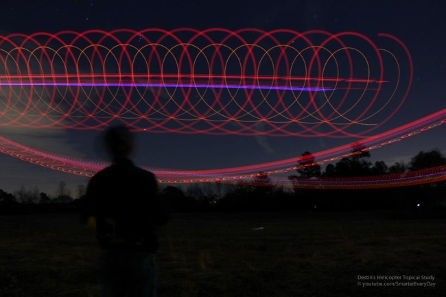 Helicopter LED Light painting