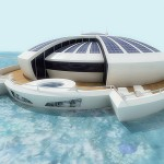 Solar-powered floating resort