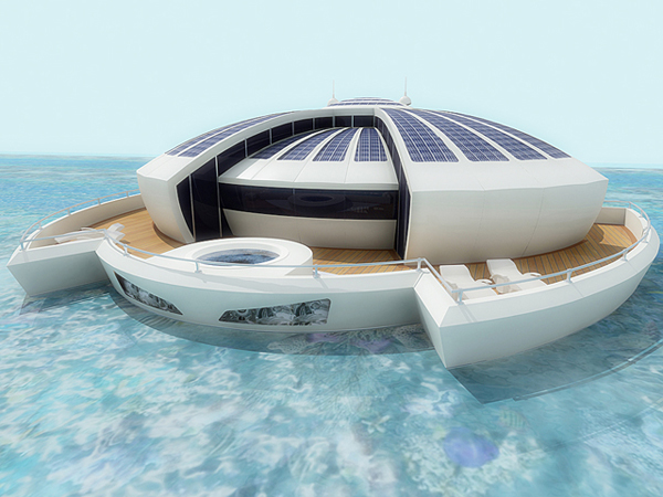 Solar-powered floating resort