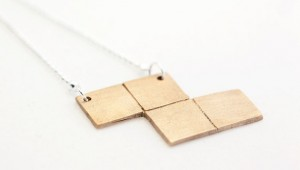 Bronze Tetris Necklaces 1