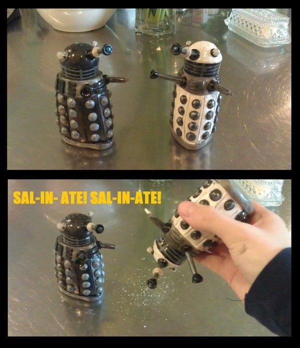 Dr Who Salt Shaker