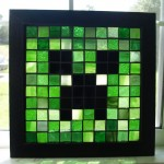 Mosaic Minecraft Stained Glass Window