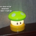 Super Mario Brothers Power up Mushroom Lamp Night Light 2