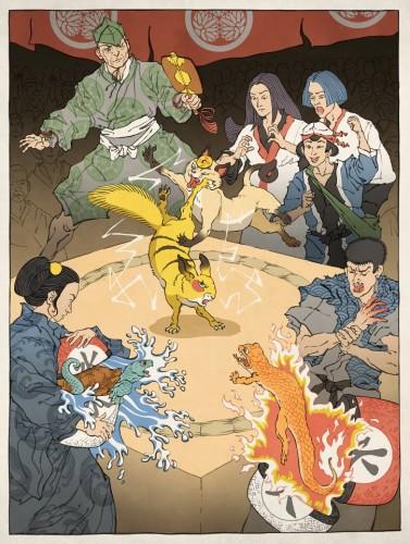 Ukiyo-e Heroes Jed Henry Pokemon Image