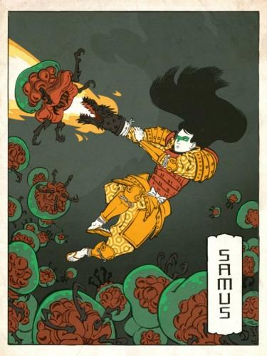 Ukiyo-e Heroes Jed Henry Samus Image