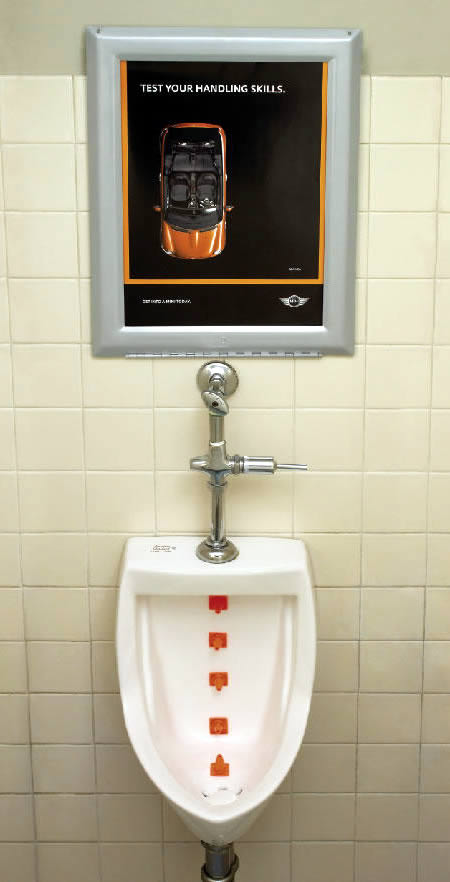 creative bathroom advertising