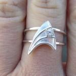 star trek silver ring 1