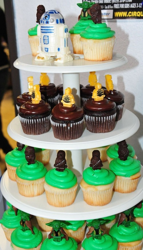 star wars lego cupcakes