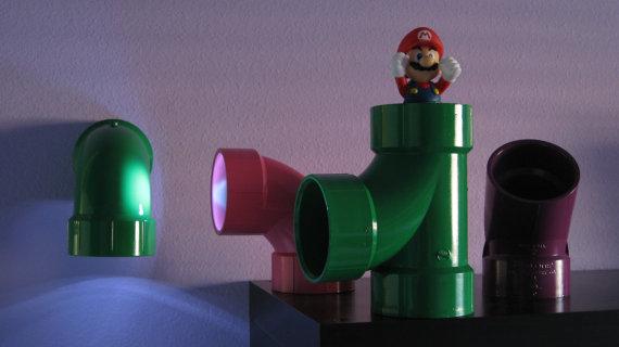 Shiny LED Lamp Mario Warp Pipe IYW2EDH9
