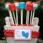 4th of July Marshmallow Pops desserts