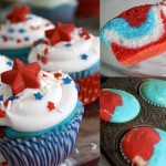 4th of July Red White and Blue Cupcakes 2