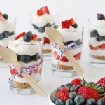 4th of July Strawberry Blueberry Mini Cheesecake Trifle 2