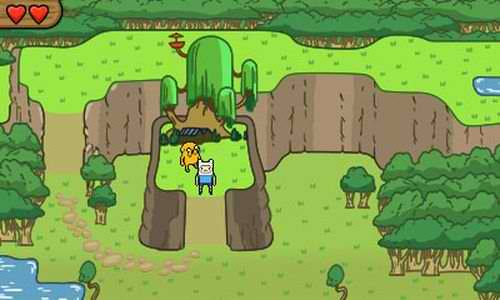 Adventure Time 3DS game top down world Image