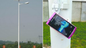 Alternative Energy Charge Smartphone Using Street Light