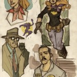 Batgirl & Gordon & Alfred