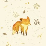 Lonely winter fox