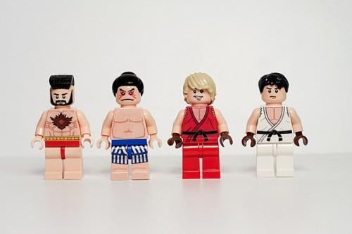 Street Fighter II Lego minifigure by Julian Fong 2