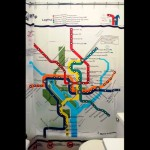 Subway Map Shower Curtain