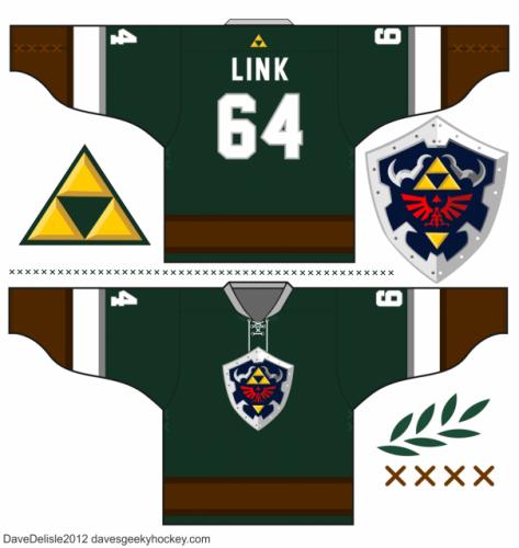 Zelda Link hockey jersey design 2.0 Image