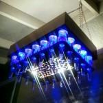 beer bottle chandelier 1