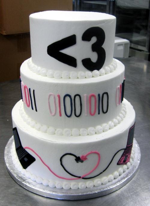 binary wedding cake
