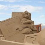 geeky sand sculptures 1