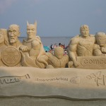 geeky sand sculptures 2
