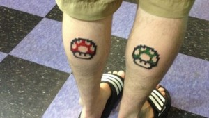 mario tattoo calves